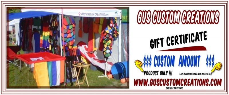 Dog Agility Equipment Gift Certificates by Gus Custom Creations