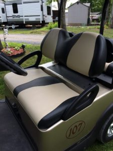 Golf Cart Re-Upholstered by Gus Custom Creations - Fournier Ontario Canada