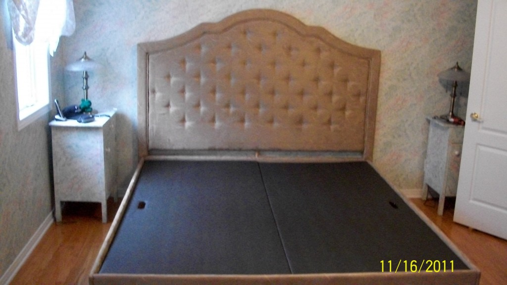 re upholstered bed frame headboard