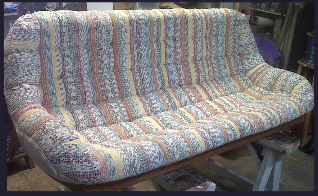 reupholstered seat